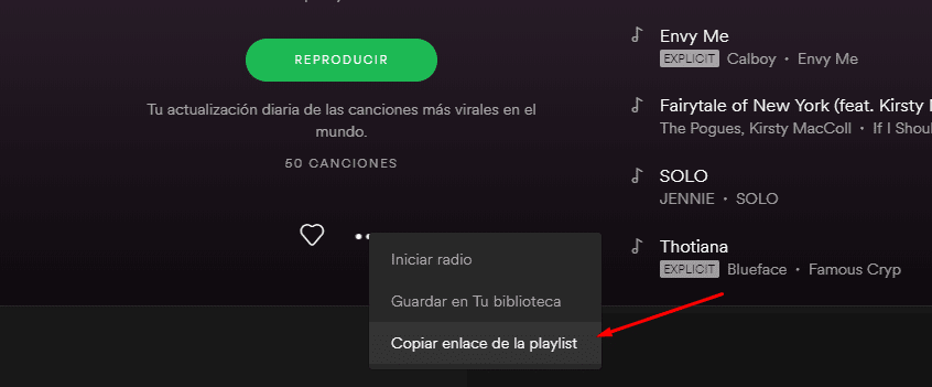 visualizaciones para playlists