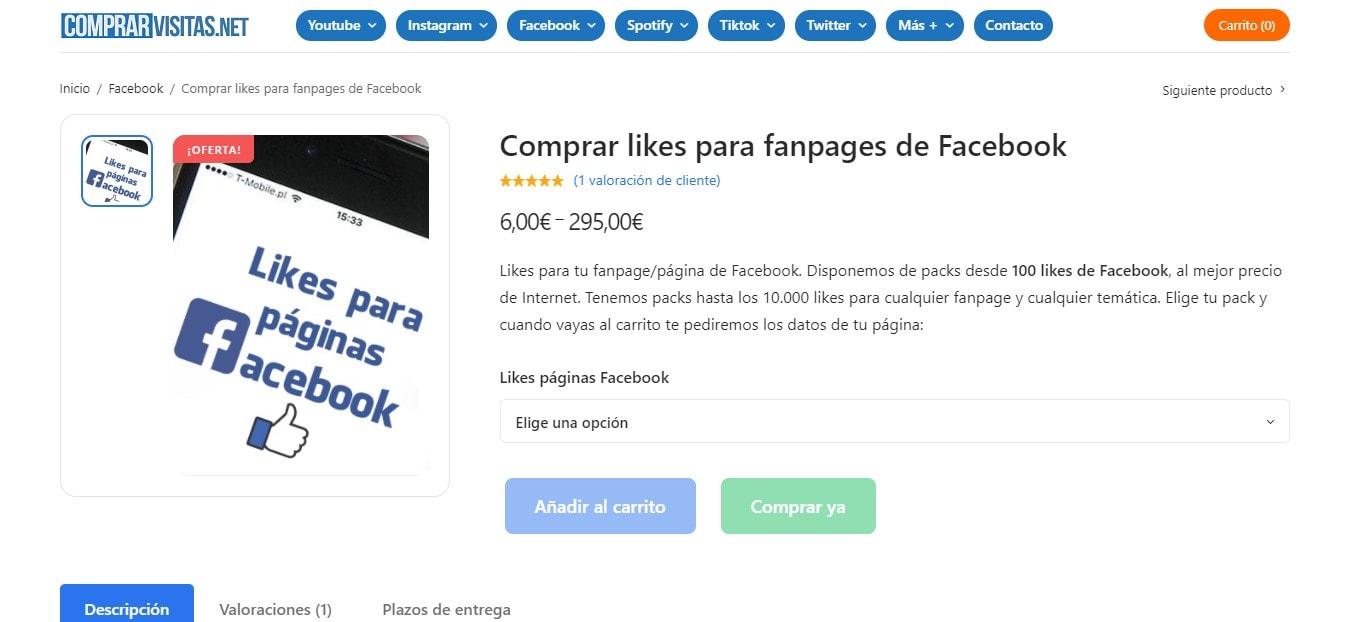 Comprar likes para páginas de Facebook al mejor precio
