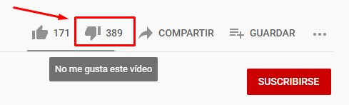 Dislikes para Youtube
