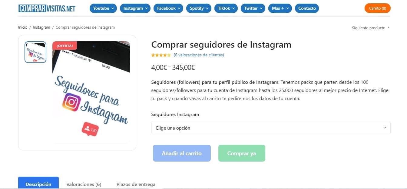 Comprar seguidores de Instagram al precio más barato de internet