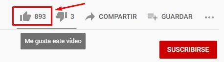 Likes para videos Youtube