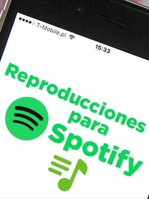 Comprar reproducciones para canciones y temas de Spotify