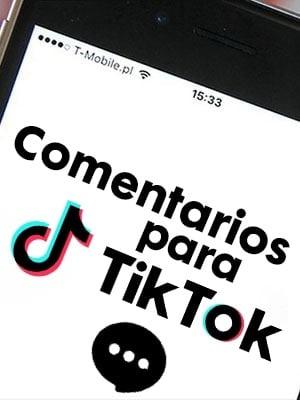 Comprar comentarios para Tiktok