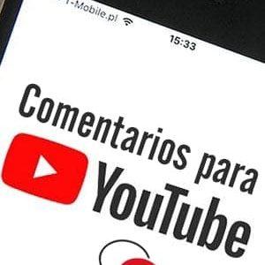 Comprar comentarios para Youtube