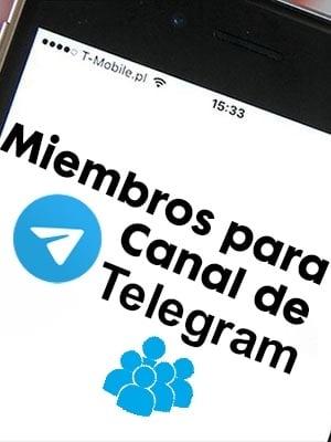 Comprar miembros para canales de Telegram