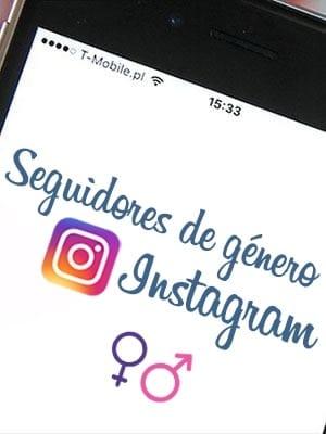 Comprar seguidores por género para Instagram